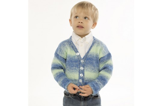 Bluegrass Cardigan Free Knitting Pattern for Kids