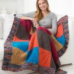Caring Comfort Knit Throw Free Pattern with Lace Leaf Motif