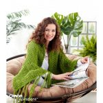 Caron Glitter Girl Shawl Free Knitting Pattern
