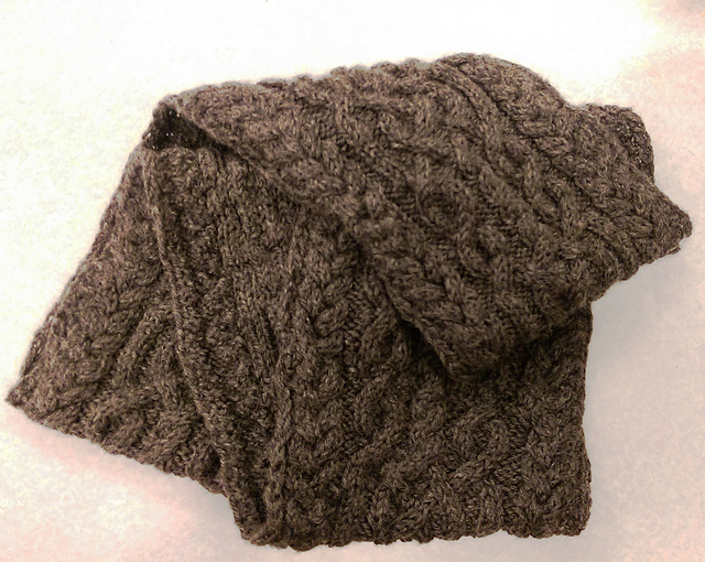 Cabled Cowl Knitting Pattern : Cecils Cabled Cowl Free Knitting Pattern ? Knitting Bee