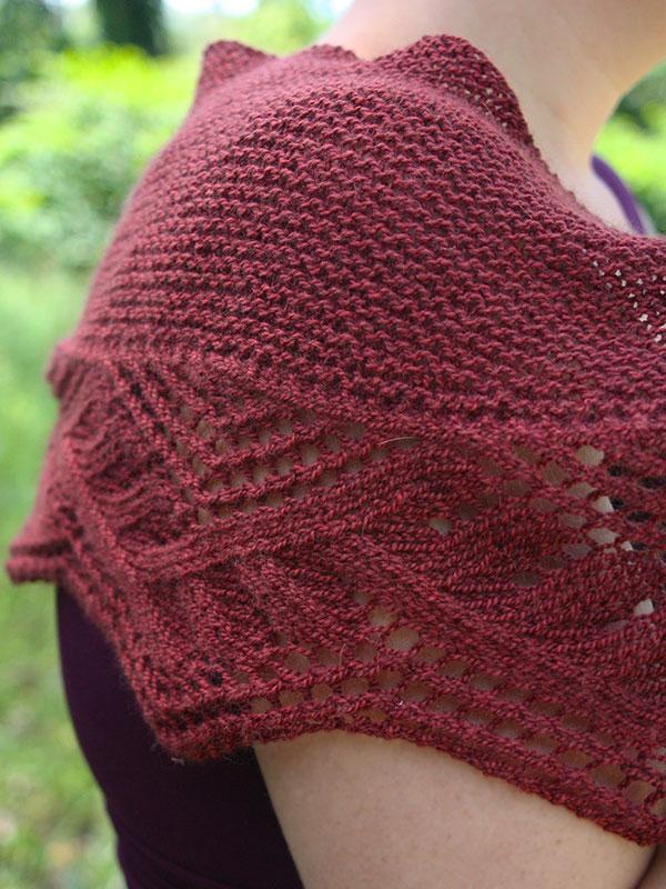 Ceridwen Free Lace Shawl Knitting Stitch