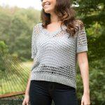 Cibber Ladies Mesh Top Free Knitting Pattern Download