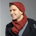 Commuter Hat & Scarf Free Men's Knitting Pattern