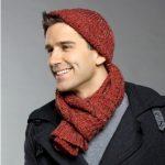 Commuter Hat & Scarf Free Men's Knitting Pattern