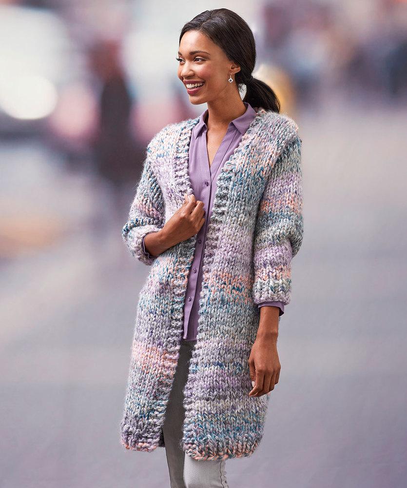 Cozy Long Cardigan Free Knitting Pattern