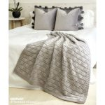 Cozy Triangles Knit Throw Free Pattern