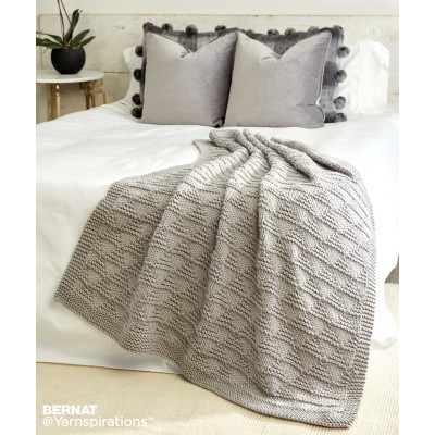 Cozy Triangles Knit Throw Free Pattern Knitting Bee