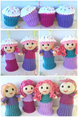 Cutie Cupcake Dolls Free Knitting Pattern