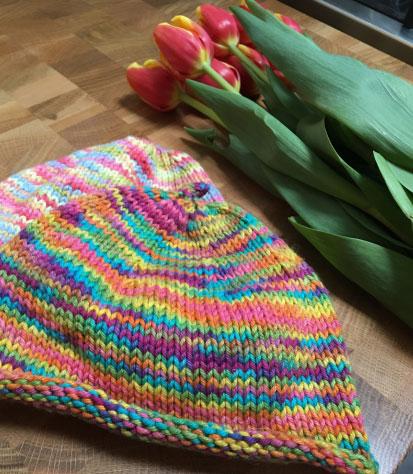 Free Variegated Yarn Baby Hat Knitting Patterns Patterns Knitting