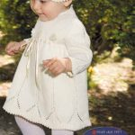 Donatello Lace Dress and Hat Free Baby Knitting Pattern. Free baby knit pattern download.