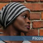 Enghave - a stripes, slouchy hat free knit pattern