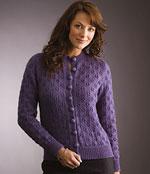 Eyelet Sweater or Cardigan free Patons knitting pattern Australia