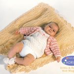 Free Baby Set Knit Pattern - Jacket, Dress, Booties and Blanket. Free baby knitting download.