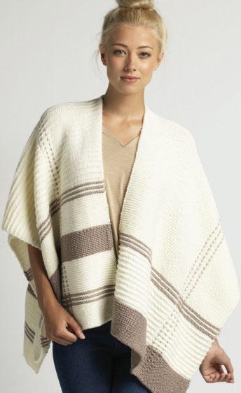 Knitting Pattern Blanket Wrap : Shawls ? Knitting Bee (89 free knitting patterns)