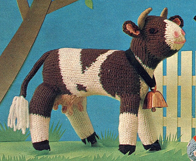 Knitting Pattern Cow Toy : Free Cow Toy Knitting Pattern ? Knitting Bee
