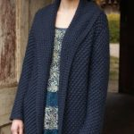 Free Daisy Stitch Coat Knitting Pattern for Women