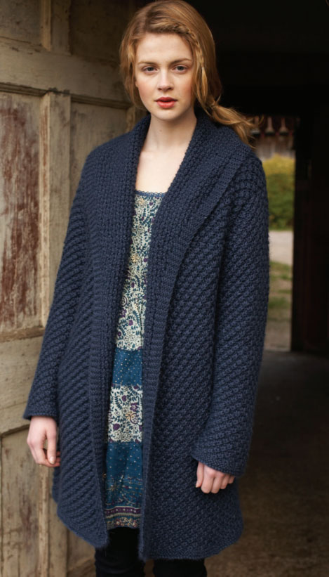 Free Knitting Patterns Ladies : Free Daisy Stitch Coat Knitting Pattern for Women ? Knitting Bee