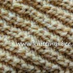 Free Diagonal Knit Stitch Pattern from http://www.knitting-bee.com/knitting-stitch-library/knit-purl-stitches/free-diagonal-knit-stitch-pattern