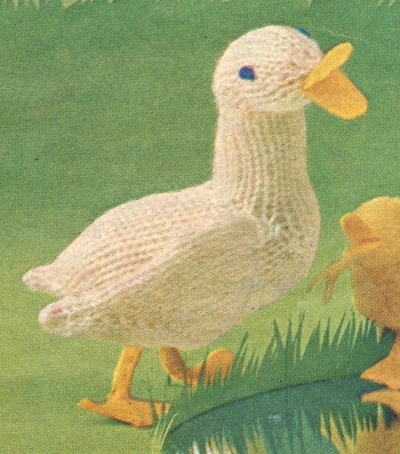 Free Duck Toy Knitting Pattern Knitting Bee