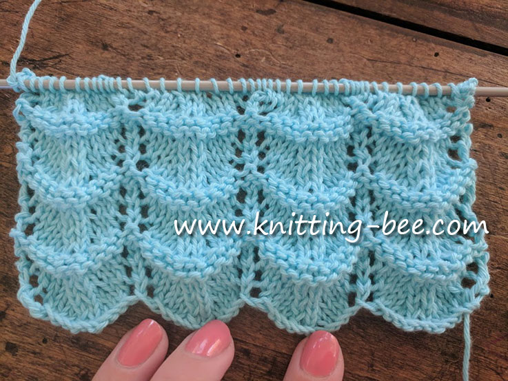Free Lace Ripple Stitch Knitting Pattern ? Knitting Bee