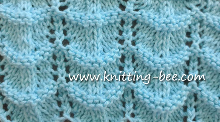 Knit Ripple Stitches Knitting Bee 1 Free Knitting Patterns