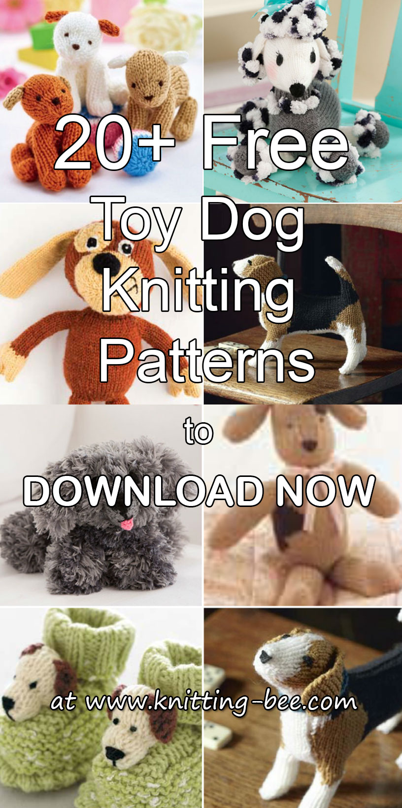 More than 20 Free Toy Dog Knitting Patterns to Download Now https://www.knitting-bee.com/free-knitting-patterns/free-knitted-toy-patterns/20-free-toy-dog-knitting-patterns-download-now