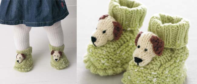 doggie booties for baby free knitting pattern