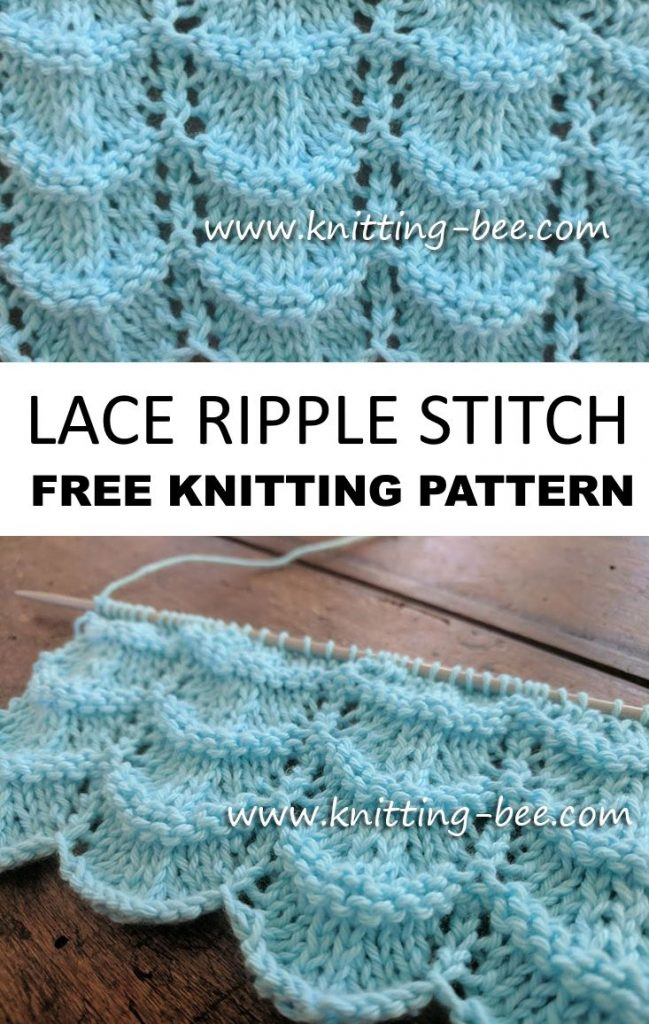 Free knitting pattern for a lace ripple stitch