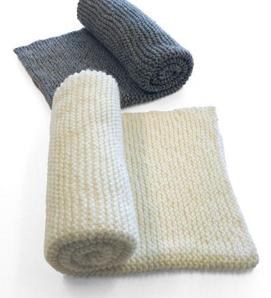 Garter Stitch Throw Free Easy Knitting Pattern