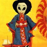 Geisha Girl Doll Free Knitting Pattern