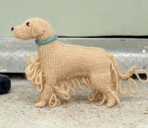 Golden retriever knitting pattern