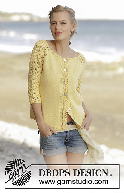 Honey Blossom Cardigan Free Knitting Pattern