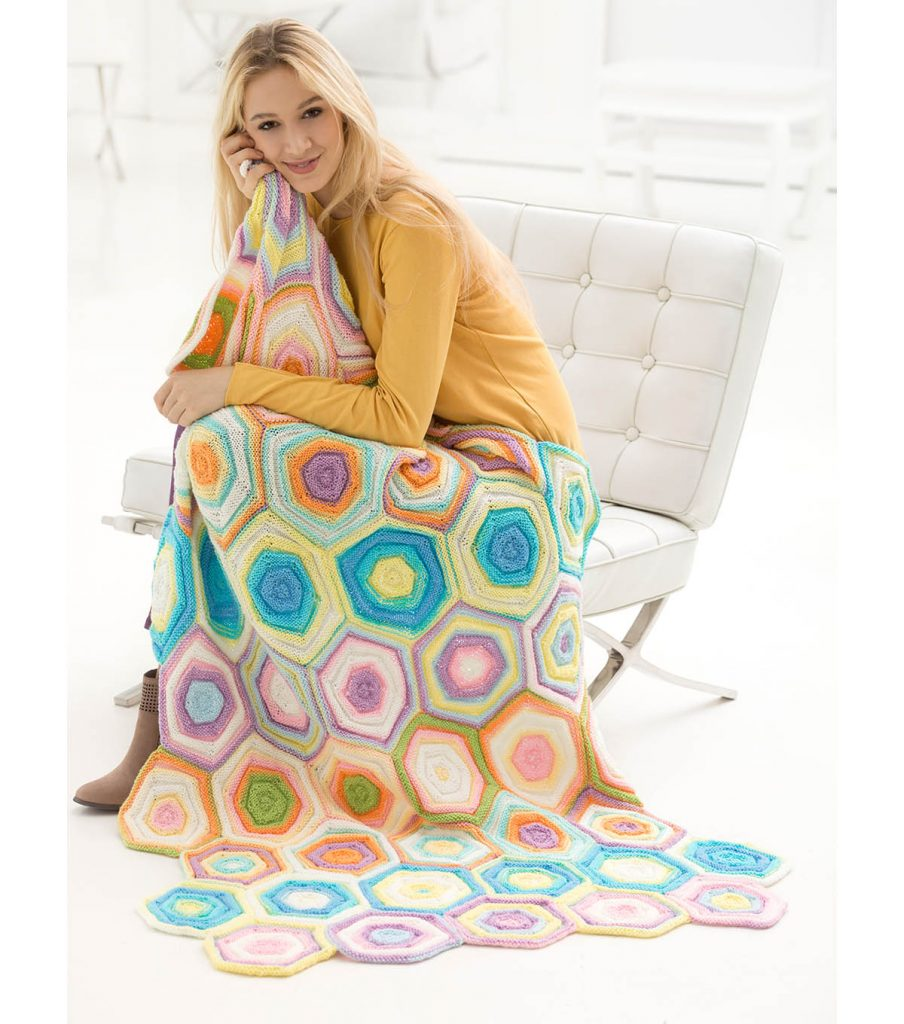 Free free hexagon blanket knitting patterns Patterns ⋆ Knitting Bee ...
