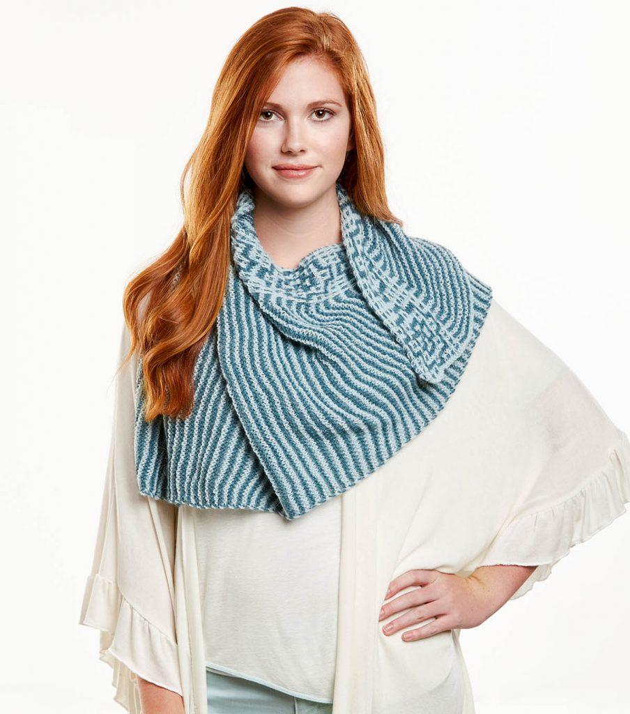 How To Knit A Mosaic Shawl Free Pattern