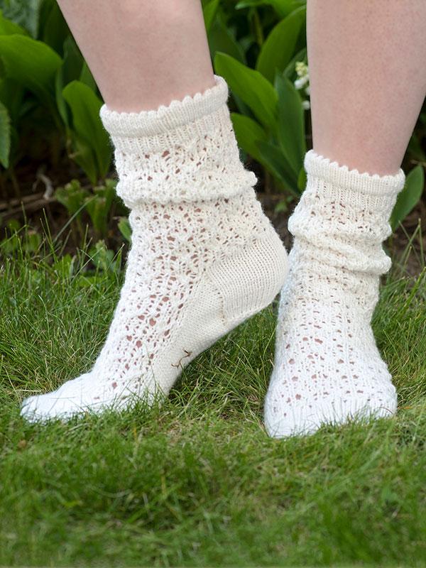 Julie Lace Socks Free Knitting Pattern