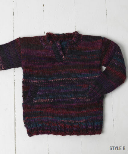 Jumper with Pockets and Neckline Options Free Knit Pattern