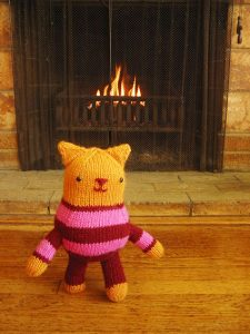 Kate the Kitten Free Toy Knitting Pattern