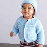 Knit A Simple Style Baby Cardigan and Hat Free Pattern