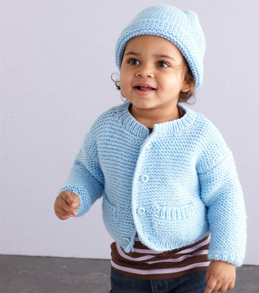 Free free baby cardigan and bonnet set Patterns ⋆ Knitting Bee (7 ...