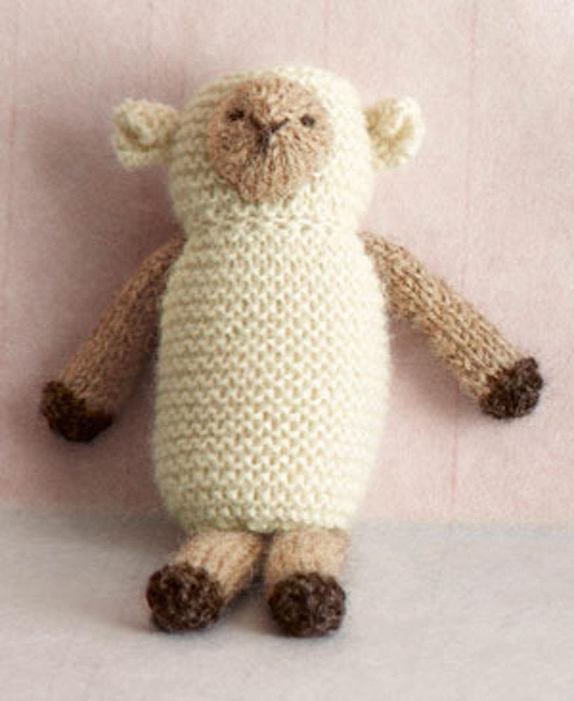Knit Little Lamb Toy free knitting pattern