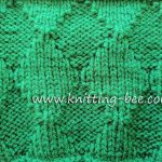 Knit and Purl Diamond Free Knitting Stitch Pattern from http://www.knitting-bee.com/knitting-stitch-library/knit-purl-stitches/knit-purl-diamond-free-knitting-stitch-pattern