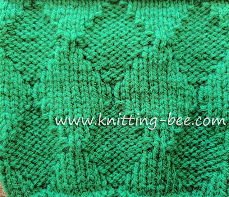 Free Free Diamond Knitting Stitch Patterns ⋆ Knitting Bee 40 Free Cool Diamond Knitting Pattern
