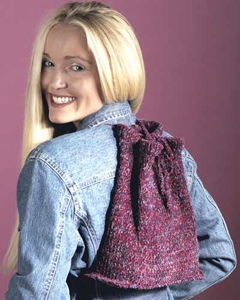 Knit backpack pattern for beginners