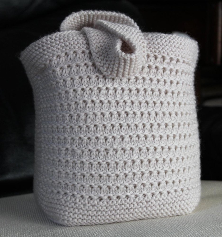 Knitted Bag Patterns for Beginners 1 ⋆ Knitting Bee