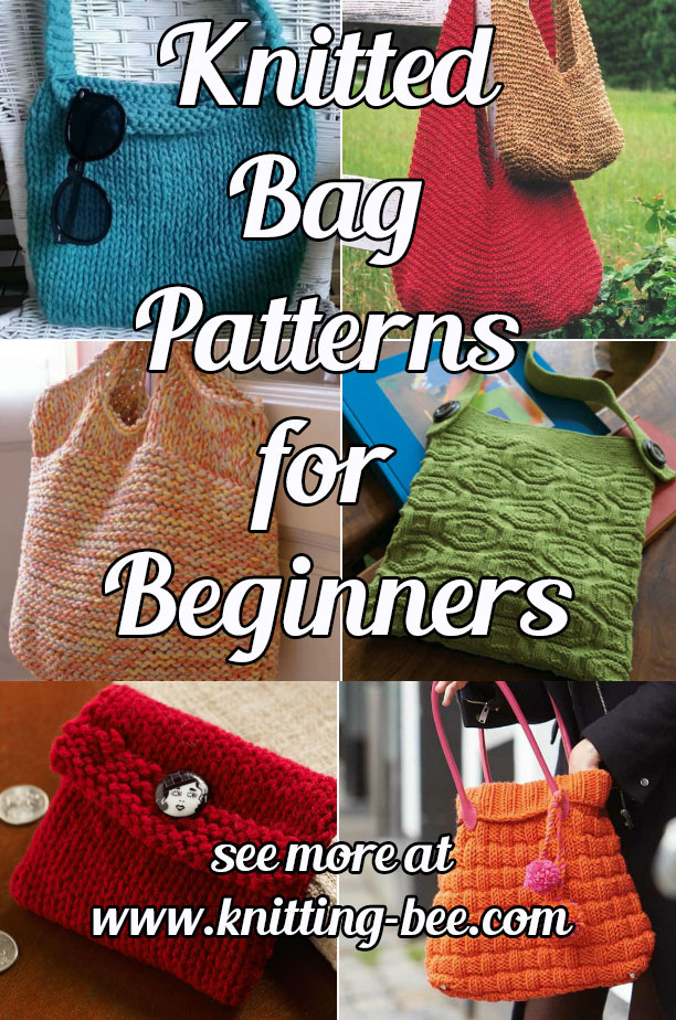 Knitted Bag Patterns for Beginners ⋆ Knitting Bee