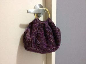 Knitting Pattern for Garter Stitch on a Bias Bag