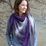 Lace Shawl in variegated yarn free knitting pattern