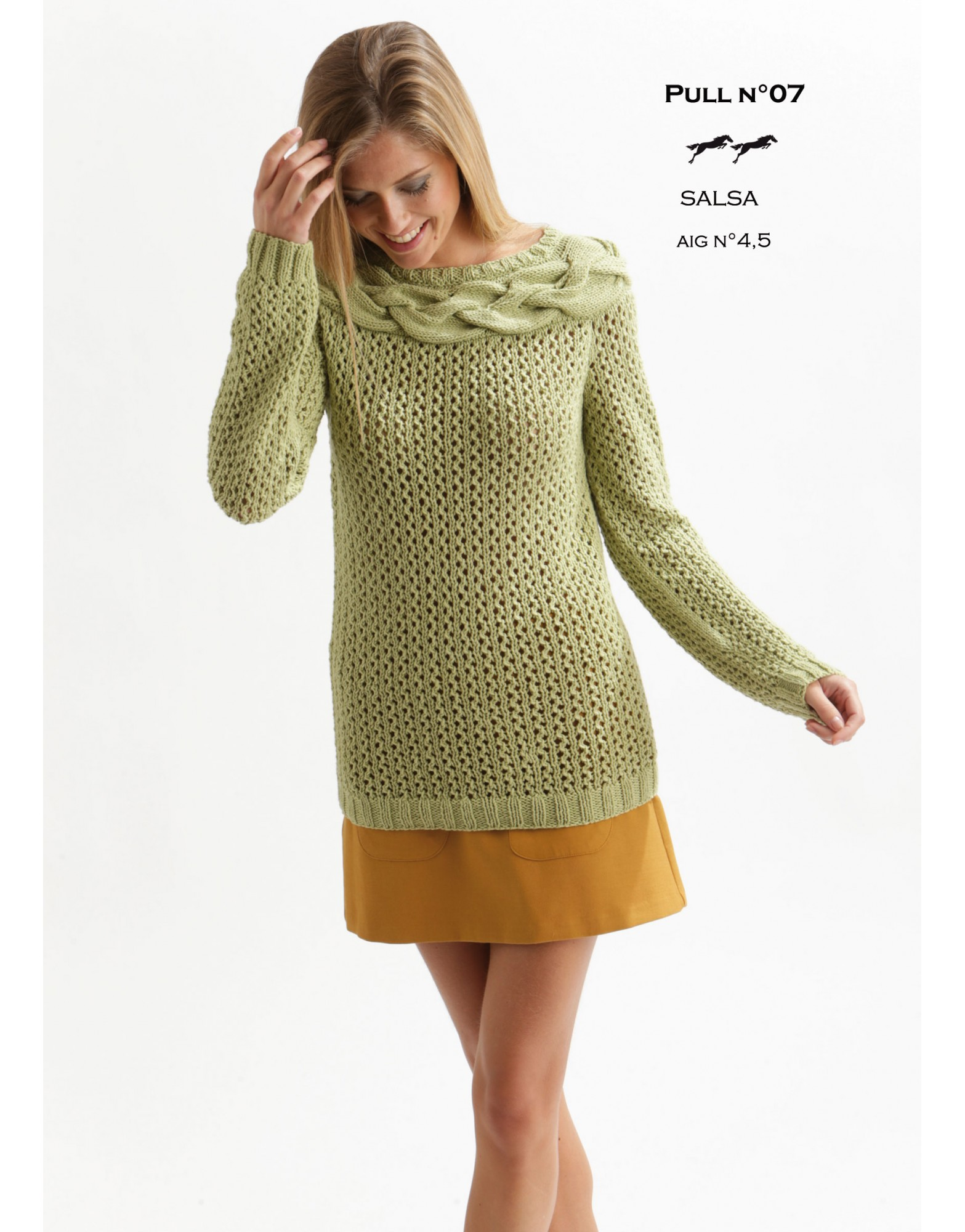 Lace Sweater with Cabled Yoke Free Knitting Pattern Download ...