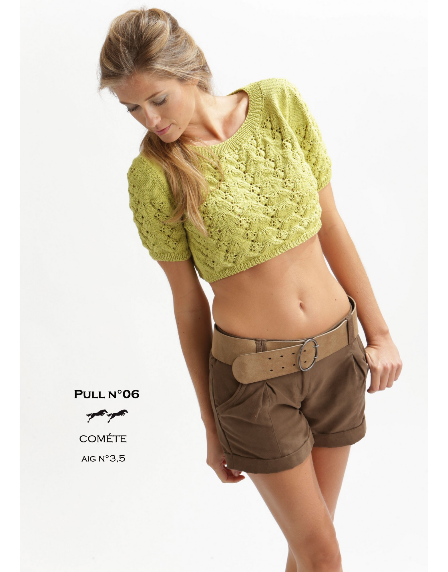 Lacy Summer Crop Top Free Knitting Pattern ⋆ Knitting Bee