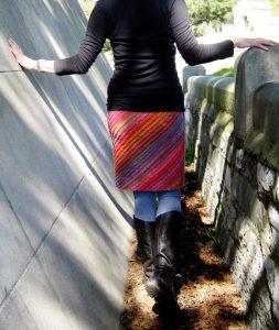 Lanesplitter Skirt Free Women's Knitting Pattern
